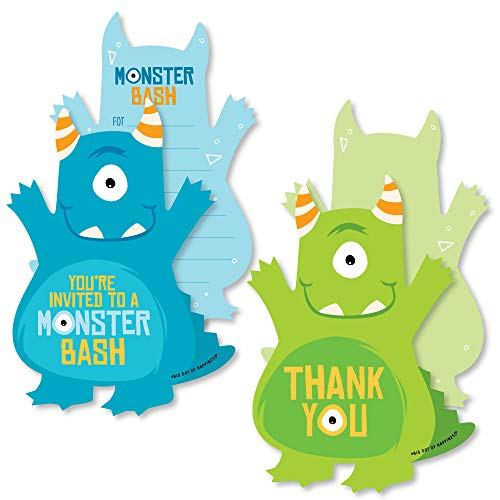 monster baby shower invitations - 4