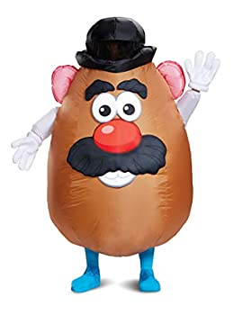 Disguise Men s Mr Potato Head Inflatable Costume Brown One Size Adult