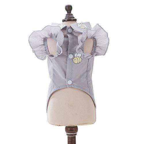 QLMS Camisa Ultra Fina de la Ropa del Verano Ropa Gris del Equipo para el Perrito Cachorro del Perro casero (Size : XS)