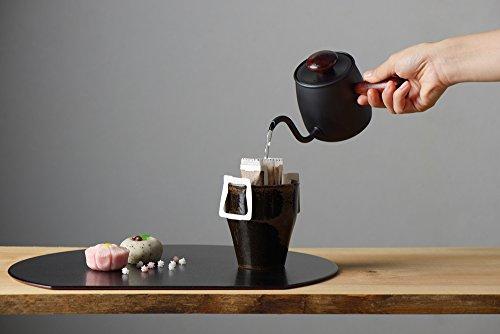 宮崎製作所Miyacoffeeドリップポット一杯用0.4L直火不可マホガニーMCO-6