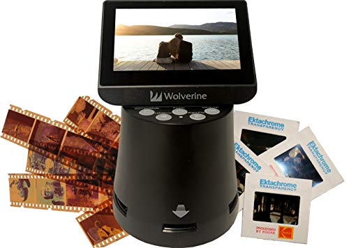 Wolverine Titan 8-in-1 High Resolution Film to Digital Converter with 4.3' Screen and HDMI Output (Black)