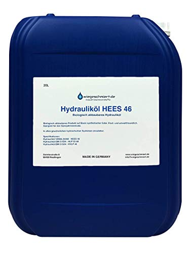 Knaus Schmierstoffe Hydrauliköl HEES 46 20 Liter biologisch abbaubar, Bio Hydrauliköl 20L Kanister