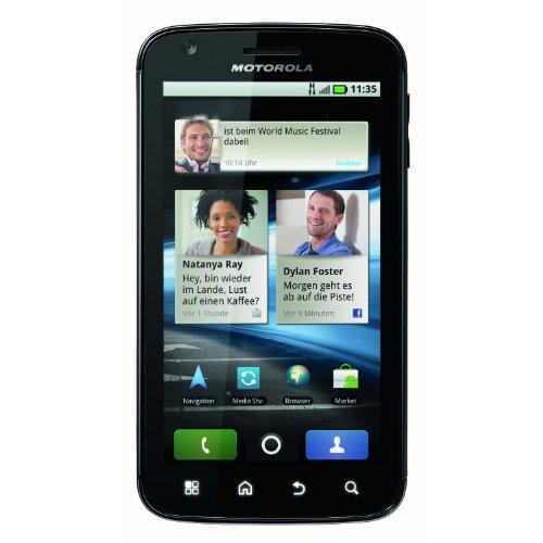Motorola Atrix 4G Smartphone (10,1 cm (4 Zoll) LED Display, Touchscreen, 5 Megapixel Kamera, Android 2.2) mit O2-Branding schwarz