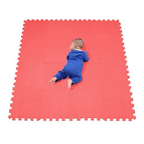 Lulupi Schutzmatten 16 Puzzlematten Bodenschutzmatten Fitness Matten Eva Dicke rutschfest Bodenmatte Puzzle Sportmatte Gymnastikmatte Indoor Outdoor