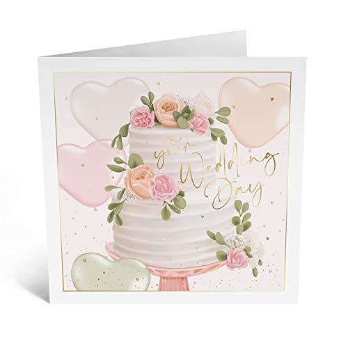 Central 23 - Tarjeta de felicitación de boda, para novio y novio - 'On Your Wedding Day' - Feliz pareja - Viene con pegatinas divertidas
