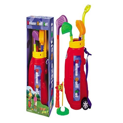Golfschläger für Kinder Kindergarten Kinder Indoor Golfschläger-Set Baby-Outdoor-Eltern-Kind-Sport Spielzeug Golfspiel Kinderspielzeug für 3-15 Jahre alt (Color : Photo Color, Size : 24x15x65.5cm)