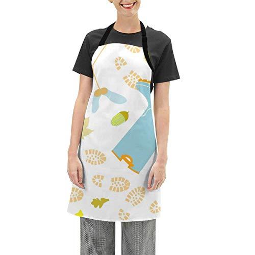 Darlene Ackerman(n) Gummistiefel Schuh Druckmuster Verstellbare Schürze Küche Kochen Soft Chef Lätzchen Schürze für Frauen Basteln BBQ Zeichnung im Freien