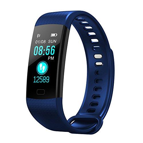 BZLine Bluetooth Smartwatch, Smart Watch Uhr Intelligente Armbanduhr Fitness Tracker Armband Sport Uhr mit Herzfrequenz Aktivität Schrittzähler Blutdruckuhr für Kinder Frauen Männer (Blau)
