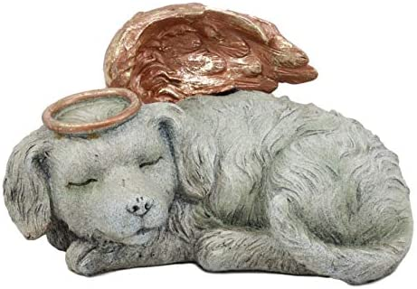 Ebros Heavenly Halo Angel Dog Urn Statue 8 Long Pet Memorial All Dogs Go to Heaven product image