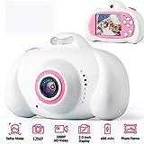 Toys Camera Mini 2.0 Pulgadas HD IPS Screen Niños Cámara para niños 1080P Video Recorder Flash Photo 12MP Videocámara para niños Regalo sin Tarjeta Blanco