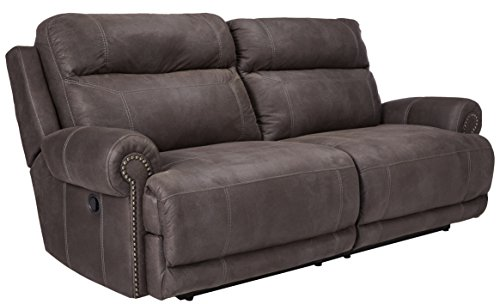 Signature Design by Ashley - Austere Contemporary Upholstered 2 Seat Reclining Sofa, Gray