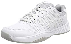 K-Swiss Performance Damen Court Smash Carpet M Tennisschuhe, Weiß (Wht/Wht/High-Rise, 6.5 000070594), 40 EU