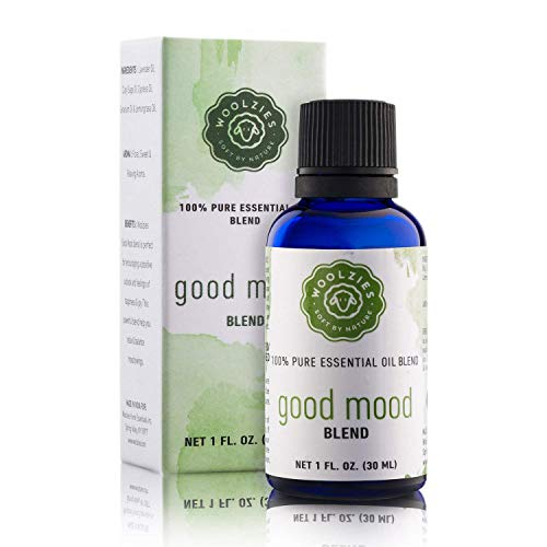 Woolzies Good Mood 100% Pure Essential Oil Blend | Floral, Sweet & Relaxing | Mood Booster Balance Mood Swings | 1 FL OZ