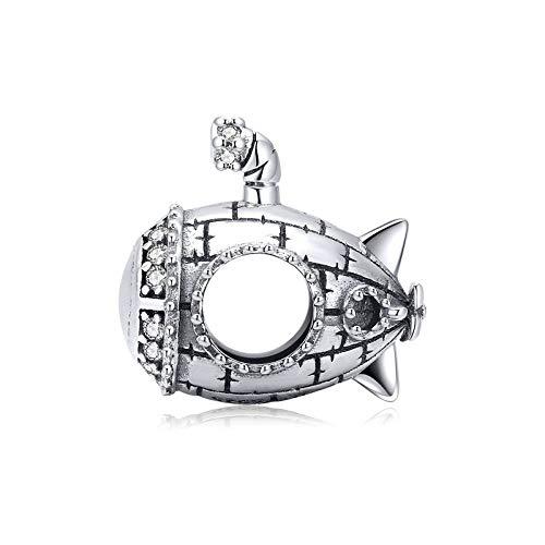 CQJMS S925 U-Boot-Perlen Aus Sterlingsilber, Einfache Perlen Für Weibliche Armbänder, Können Zu Jeder Jahreszeit Getragen Werden Und Sind Für Frauen Im Alter Von 18 Bis 35 Jahren Geeignet