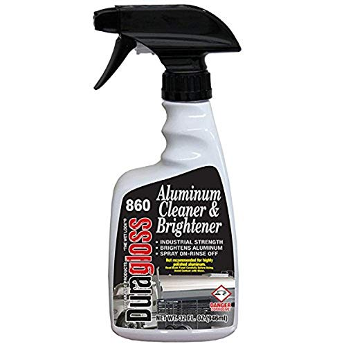 Duragloss 860 Automotive Aluminum Cleaner and Brightener, 32 fl. oz, 1 Pack