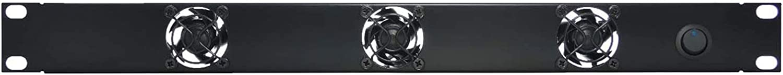 FerruNet1U Silent Rack Mount Fan/Airflow = Exhaust/Home Theater AV Cabinet Cooling Broadcast Network Server Recording Studio Rack Mount Fan Panel 19