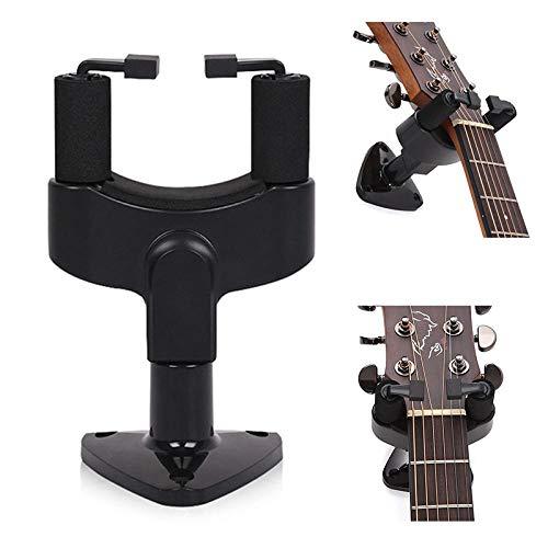 Gitarrenständer Wandhalterung Ständer Wandhalterung Haken Für Gitarren Bass Ukulele String Instrument Zubehör (2Er Pack)-Schwarz_Russische Föderation