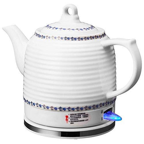 Bouilloires eau électrique bouilloire à thé en céramique Pot 1.2L Bouilloire sans fil Faire bouillir la protection sec Coupure automatique 1000W rapide (Couleur: B) 8bayfa (Color : A)