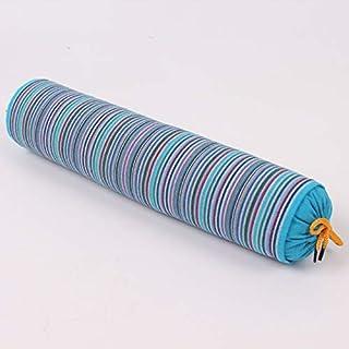 YYBF Almohada de Trigo sarraceno Gruesa de Rayas Almohada de Trigo sarraceno Caramelo Caramelo Caramelo Almohada cilíndrica se Puede Desmontar 1 jin Azul