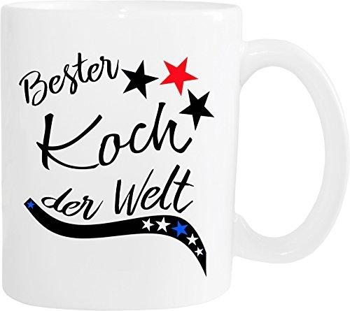 Mister Merchandise Becher Tasse Bester Koch der Welt. Kaffee Kaffeetasse liebevoll Bedruckt Beruf Job Arbeit Weiß