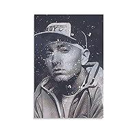 ラッパーエミネムキャンバスアートポスター装飾画リビングルーム壁画家の壁アート装飾写真08×12インチ(20×30cm)