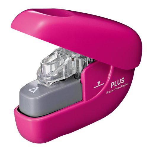 A needle-less stapler Paper clinch PK SL106N pinkx1 by Plus