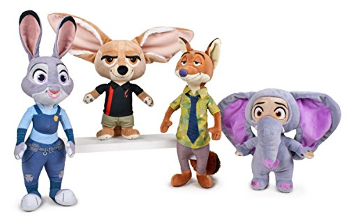 Zootropolis - Pack 4 Peluches Calidad Super Soft - Judy