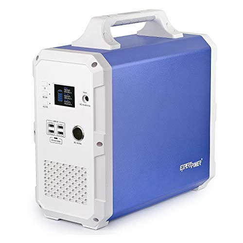 ExpertPower Alpha 1500 Lithium Portable Power Station| 1500Wh Solar Generator with 1000W AC Inverter (2000W Peak), USB, Type-C, 12V DC Output for Emergency, Camping and Power Supply