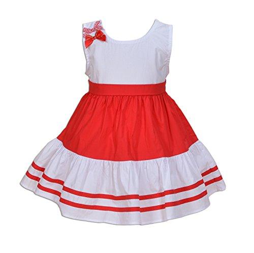 Cinda bébé Filles Robe de fête Rouge 6-9 Mois