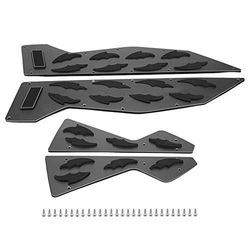 Akozon 1 par de estribos de aluminio para motocicleta, almohadilla para pedal, reposapiés, almohadilla para NMAX155 NMAX125(Titanio)