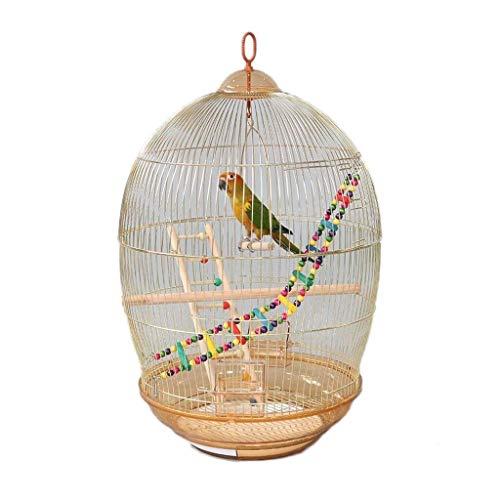 MUMUCW Jaula de pájaros Grande for periquitos Agapornis Pinzones Cacatúas Conures Canario Tall Metal Jaula de Loros pequeños Periquitos Sun Quaker Green Cheek Travel Bird Cage