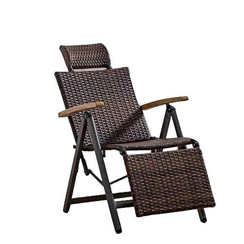 LLSS Sillas de salón para Patio Sillón reclinable Reclinable Zero Gravity Tumbona de jardín reclinable Tumbona de Playa Resistente a la Intemperie Durable
