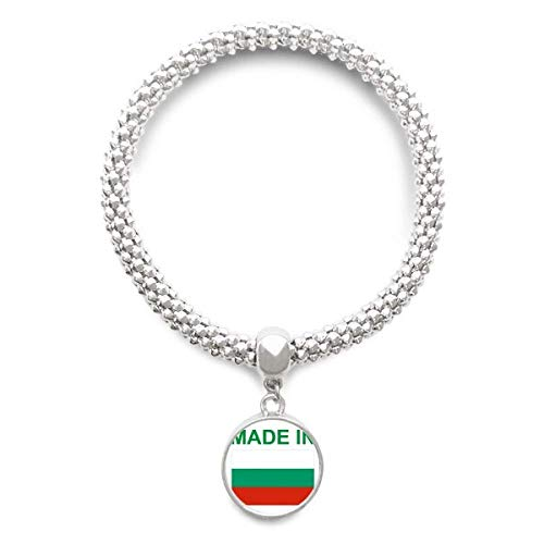 DIYthinker Damen Hergestellt in Bulgarien Country Liebe Sliver Armband Laufende Anhänger Schmuck-Kette