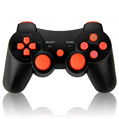 Connyam Wireless Controller for PS3, Bluetooth Double Shock Sixaxis Remote Gamepad for Sony PS3 PlayStation 3
