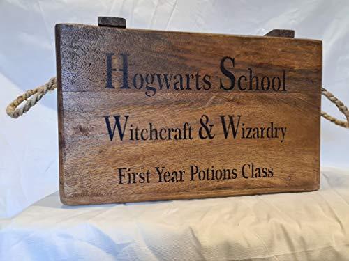Baúl de madera estilo rústico vintage Hogwarts School Harry Potter