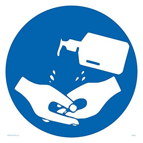 Hand Desinfektionsmittel Symbol Schild – Kunststoff halbstarr 1 mm