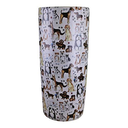 Paraguero de Ceramica Rojo de 50 cm Jarron de Ceramica Grande Suelo Color Rojo Granate Bastonero de Ceramica para Entrada y Pasillo POLONIO