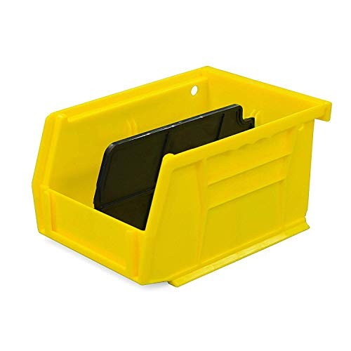 Secure It Gun Storage Small Storage Bin with Divider: Perfect to Store Spare Magazines, Ammo, and Cleaning Supplies, Resistant to Oil and Cleaning Solvents, Easy Clip to Grid Wall