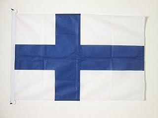 AZ FLAG Finlands flagga 5 x 3 tum för utomhus – Finska flaggor 90 x 60 cm – banner 6 x 0,9 m stickad polyester med ringar
