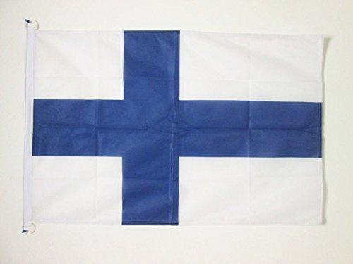 AZ FLAG Flagge FINNLAND 90x60cm - FINNISCHE Fahne 60 x 90 cm Aussenverwendung - flaggen Top Qualität