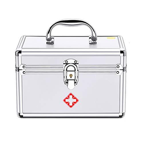 Erste-Hilfe-Set Abschließbare Erste-Hilfe-Box Sicherheitsschloss Medizin-Aufbewahrungsbox Mit Tragbarem Griff Für Auto, Heim, Reise, Camping, Büro Oder Sport