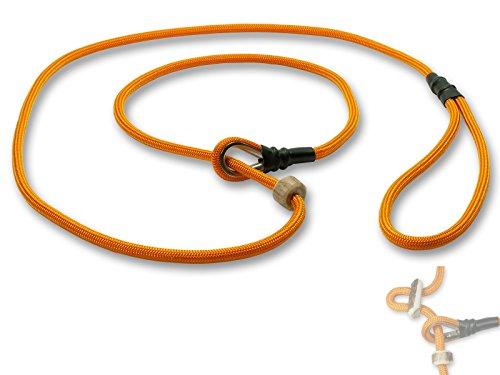 Mystique® Field trial Moxonleine Retrieverleine 6mm 130cm mit Zugbegrenzung orange