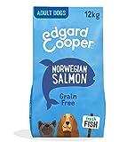Edgard & Cooper pienso para Perros Adultos sin Cereales, Natural con Salmón Fresco, 12kg. Comida Premium balanceada sin harinas de Carne ni Carnes sobreprocesadas, cocinada a Baja Temperatura