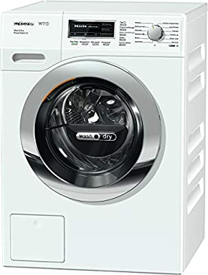 Miele WTF130 Freestanding Washer Dryer with CapsDos, 7Kg Wash/4Kg Dry Load, 1600rpm spin, White