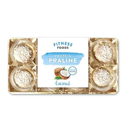 FITNESS FOODS Protein Pralinen Coconut - Protein Konfekt - Protein Snack - (Coconut - 8 x 10g)