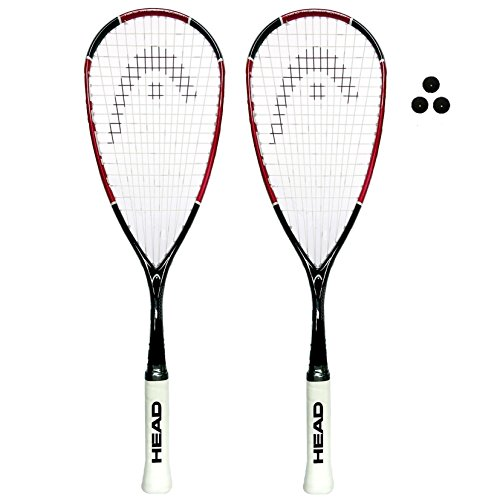 Raqueta de squash HEAD Nano Ti 110 , tamaño 2 x Rackets + 3