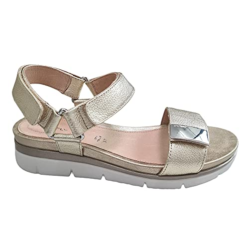 STONEFLY - Sandali dorati comfort - pelle. Oro Size: 38 EU