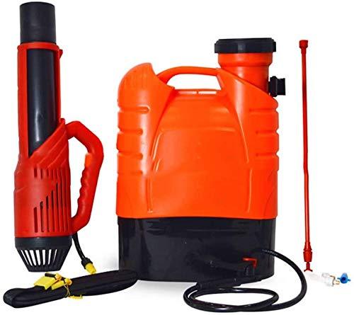 Rabbfay Eléctrico Fogger Atomizador Mochila Pulverizador, 16L Litio Batería Recargable Niebla Soplador para Parásito Controlar Y Saneamiento Rociar,a