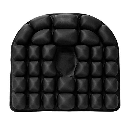 Bequemes Druckentlastungskissen, Wasser und Luft Atmungsaktives Kissen, büro aufblasbares Kissen, aufblasbares Sofa (Color : Black)