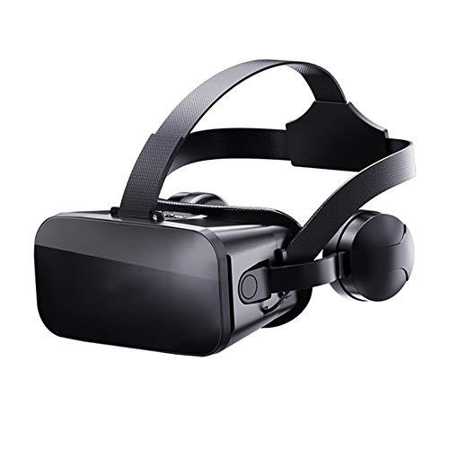 LHNEREGLHNEREG Virtual Reality 3D-Brille, VR-Brille Mit Headset-Controllern, Für 4,7-6,7-Zoll-Smartphone iPhone Android-Spiele Stereo